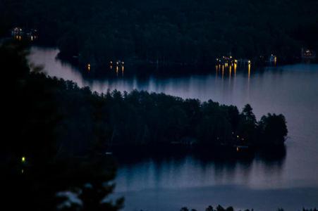 Mark photo of Upper St Regis Lake from tower
