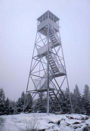 St Regis Mt Firetower on a blustery day